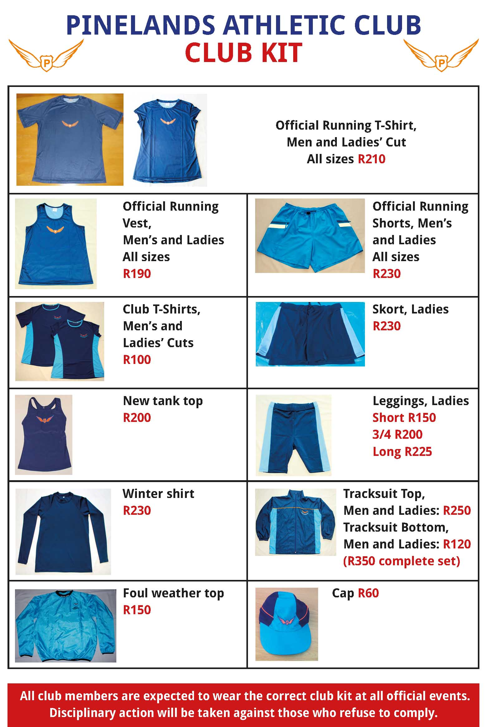 Official Pinelands AC Running Kit